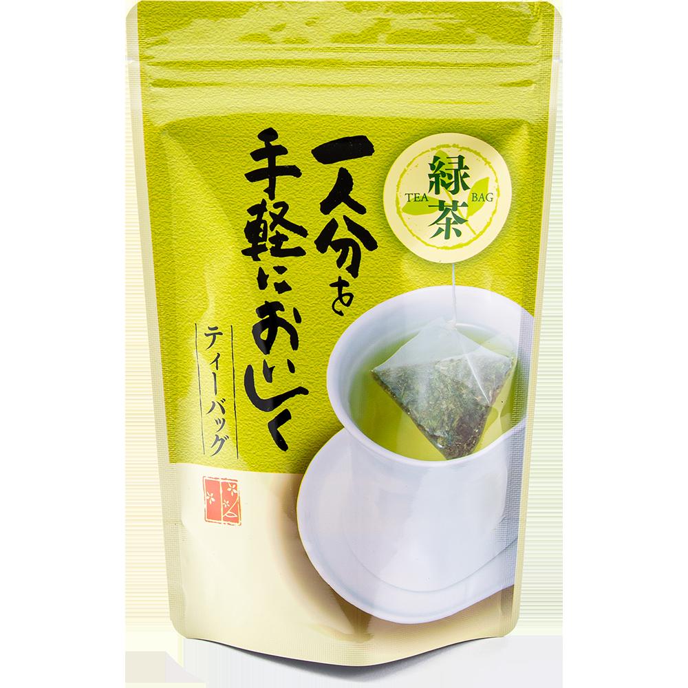 一人分を手軽においしく 緑茶ティーバッグ