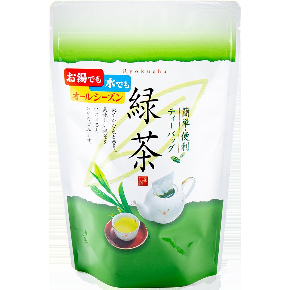 お湯でも水でも簡単便利 緑茶ティーバッグ